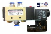 "4V210-08 Amisco Solenoid valve 5/2 Ways Size 1/4"" Pressure 0-10 Bar อุณห..."